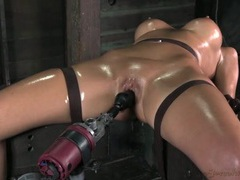 Milf covered in oil as she takes a toy fucking movies at find-best-babes.com