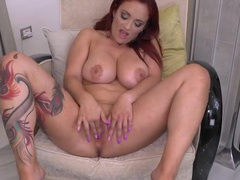Tattooed milf shows off her incredible curves movies at kilotop.com