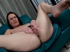 Dark pubic hair is mouth watering on a milf videos