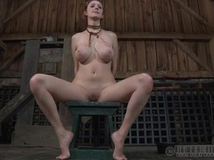 Beautiful big breasted redhead interviews after a fetish session videos