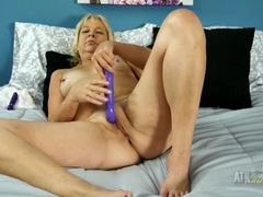 Vibrator up her mature asshole for fun videos