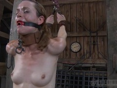 Torn stockings girl abused in his dungeon videos