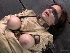 Beauty in a straitjacket gets mouth fucked videos