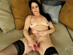 Sexy lingerie on a dildo fucking mature beauty videos