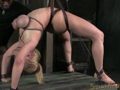 Rope bound big titties on a sexy blonde whore videos