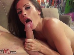 Blowjob comes up on the sex wheel and she sucks videos
