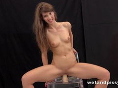 Slut sucks the big dildo covered in her piss videos