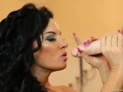 Best dildo blowjob ever from a glamour babe videos