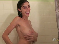 Milf taking a shower has a stunning pair of tits movies at sgirls.net
