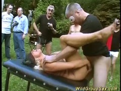 German swinger garden party videos