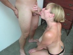 Cbt spices up the blowjob and makes him cum tubes