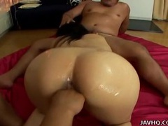 Asian covered in sticky good and fucked by two guys videos