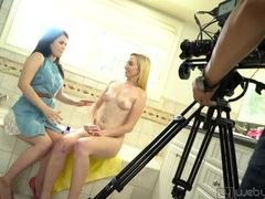 Interview with two cute lesbian chicks videos