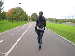 Jeny smith pantyhose in public pretend to be leggings videos
