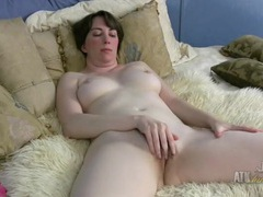Milky white milf tits are perfectly round tubes