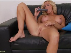 Hot naked mature chick lubes a toy and fucks it movies at kilotop.com