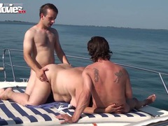Fat granny gangbanged on the boat videos