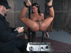Master and his tools abuse the bound girl videos