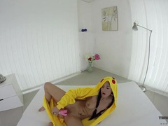 Big tits cutie dressed up as pikachu to fuck a toy movies at kilotop.com