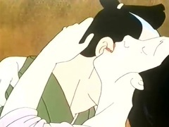 Japanese cartoon couple makes sweet love movies at sgirls.net