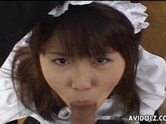 Japanese maid learns how to suck dick videos