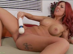 Sweet and sexy redhead turns on her vibrator videos