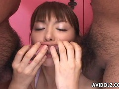 Two guys blown by a bra and panties girl movies at sgirls.net
