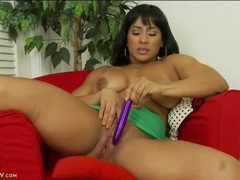 Babe fills her juicy pussy with a dildo movies at find-best-mature.com