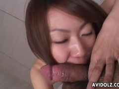 Slim japanese cutie gives him a hot blowjob videos