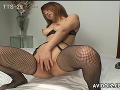 Delicate japanese fingers pleasuring her naked pussy videos
