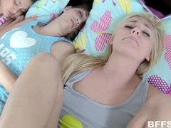 Her friends sleep as this blonde teen gets fucked videos