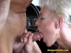 German milf picked up for car sex movies