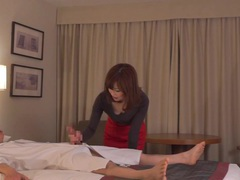 Subtitled cfnm japanese hotel milf massage leads to handjob videos