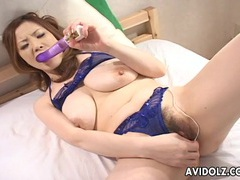 Fondling big natural asian tits in blue lingerie videos