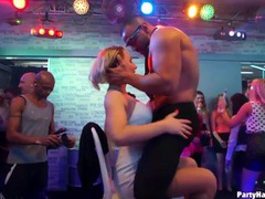 These party girls get naughty sucking dick at the club movies at freekilomovies.com