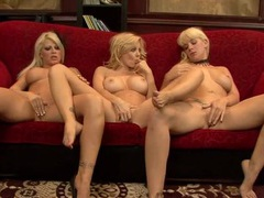 Dd cup titties on all three beautiful lesbian blondes videos