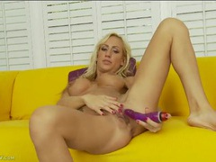 Big fake titties are so hot on a masturbating milf videos