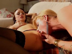 Lesbian domme spreads her legs for cunt eating movies at freekiloclips.com