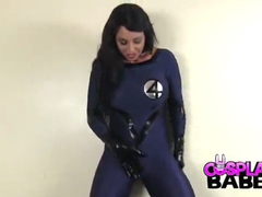 Fantastic four costume is hot on a curvy goddess videos