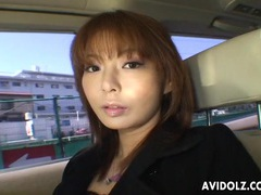 Interview in the car with a cute japanese girl videos