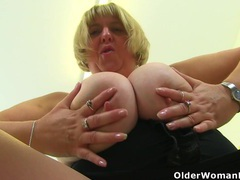 British milf melons marie works her huge tits and pussy videos