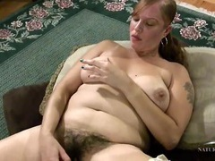 Hairy babe with beautiful big boobs masturbates solo movies at find-best-lingerie.com