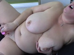 Sexy fatty in her bed to pleasure her pussy videos