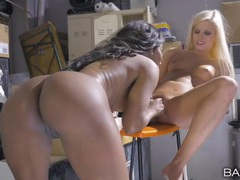 Petite blonde eats out a fit black milf movies