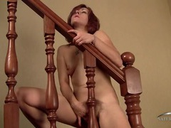 Slim stripping redheaded mom has a nice bush movies at adipics.com