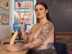 Masturbation lessons from a big breasted teacher videos