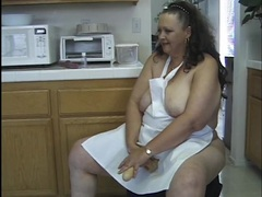 Bbw wife plays naughty in her apron videos