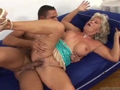 Big tits granny slut enjoys a fucking from a young guy tubes