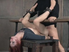 Violet monroe mouth and pussy fucked in bondage videos