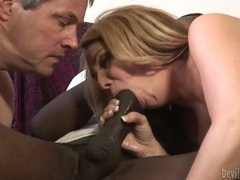 Husband and wife suck black dick together tubes